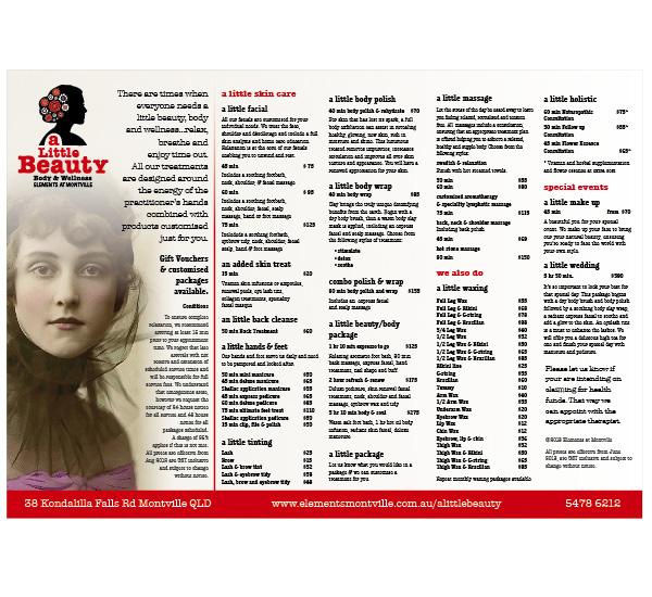 A-Little-Beauty-Flyers-Print-Price List